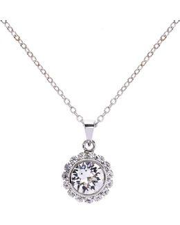 Sela Silver Crystal Daisy Pendant