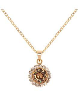 Sela Gold Crystal Daisy Pendant