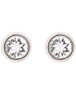 Sinaa Silver & Crystal Stud Earring