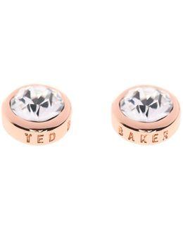 Sinaa Rose Gold & Crystal Stud Earring