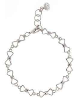 Alva Silver Peek A Bow Chain Bracelet