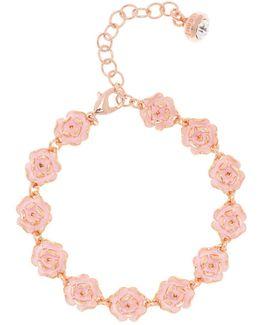 Elicia Pink Enamel Rose Bracelet