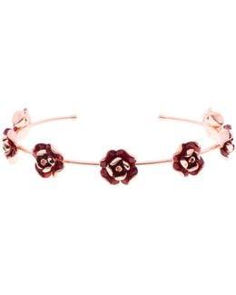 Elenn Red Enamel Rose Ultrafine Cuff