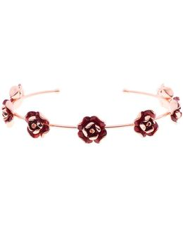 Elenn Red Enamel Rose Ultrafine Cuff