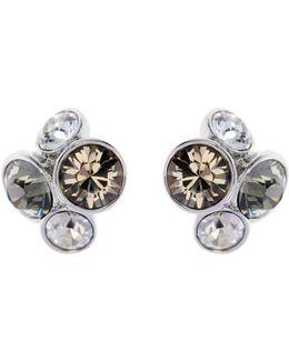 Lynda Silver Jewel Cluster Stud Earring