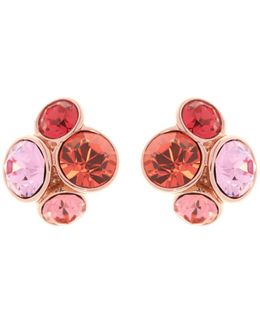 Lynda Coral Jewel Cluster Stud Earring