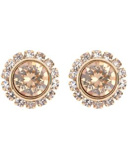 Sully Gold Crystal Daisy Stud Earring