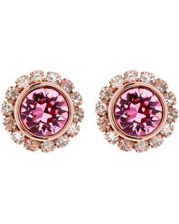 Sully Pink Crystal Daisy Stud Earring