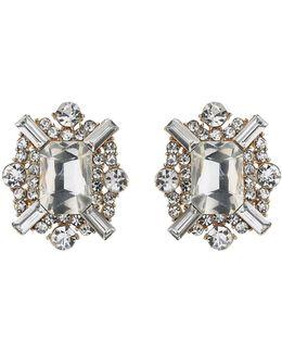 Square Baugette Clipon Earring