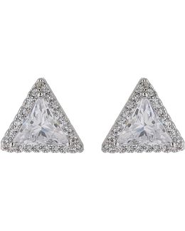 Triangle Crystal Stud Earring