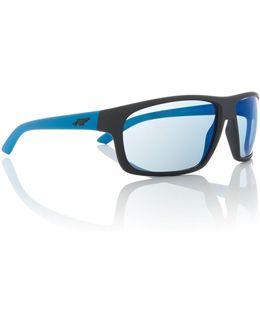 Blue Rectangle An4225 Burnout Sunglasses