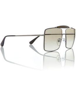 Gunmetal Square Pr 57ss Sunglasses