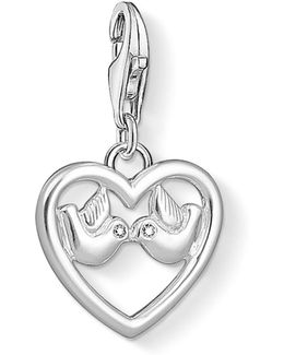 Charm Club Heart & Dove Charm