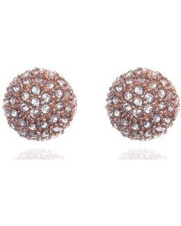 Pave Cubic Zirconia Drop Earrings