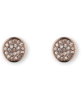 Single Stone Drop Pave Earrings