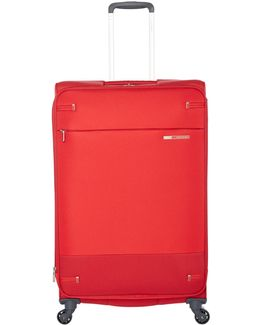 Base Boost Red 4 Wheel 78cm Large Suitcase