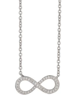 Sterling Silver 925 Bow Crystal Pendant