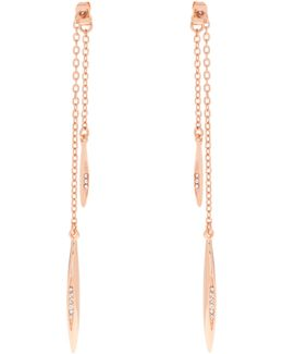 K9372402 Flow Drop Crystal Earrings
