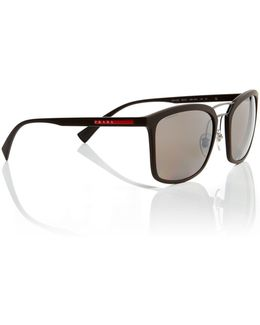 Brown Rectangle Ps 03ss Sunglasses