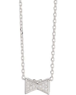 Silver 925 Embed Bow Design Pendant