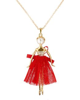 T13240215 Bijou Pave Ballerina Pendant