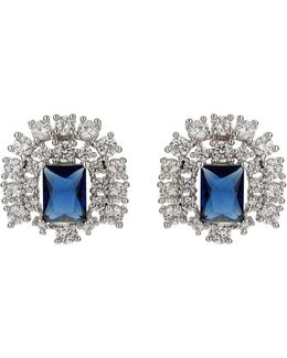 Cubic Square Centre Stud Earring
