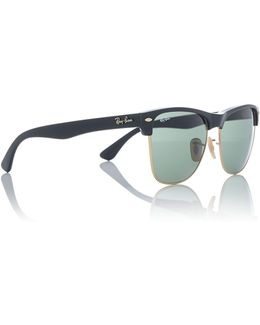 Black Rb4175 Clubmaster Sunglasses