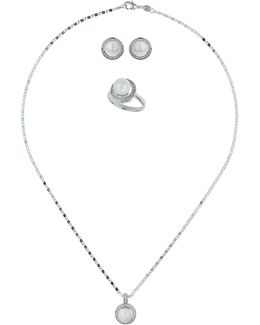 Integrated Cubic Round Pearl Centre Set