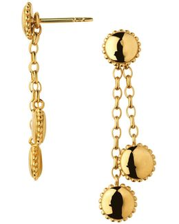 Amulet 18kt Gold Vermeil Drop Earrings