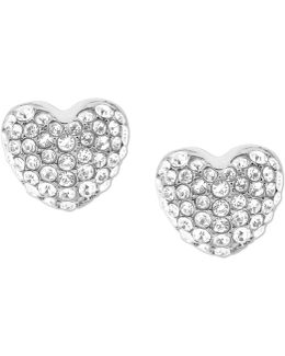 Pavé Puffy Heart Stud Earrings