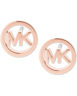 Logo Stud Earrings
