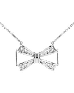 Jiao Silver Jewelled Bow Pendant