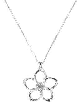 Bedelie Silver Crystal Blossom Pendant
