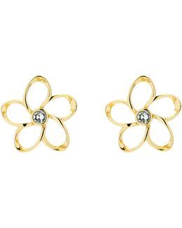 Basilio Gold Crystal Blossom Earrings