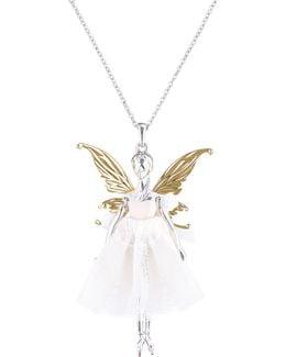 Titania Silver Fairy Ballerina Pendant