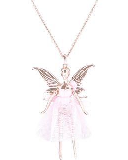 Titania Rose Gold Ballerina Pendant