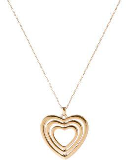 Helinna Gold Crystal Heart Pendant