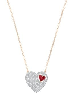 Great Pavé Heart Reversible Pendant Necklace