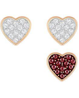 Heart Pierced Earring Set