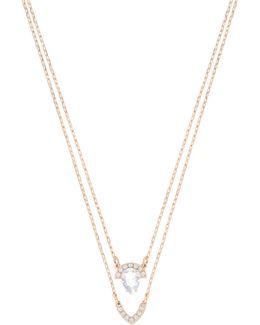 Gallery Pavé Crystal Pendant Multi-strand Necklace