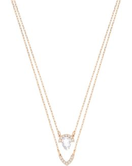 Gallery Pavé Crystal Pendant Multi-strand Necklace