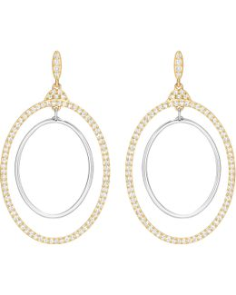 Gilberte Pavé Double-hoop Drop Earrings