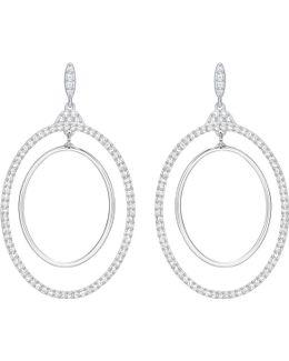 Gilberte Genuine Crystal Hoop Pierced Earrings/2-inch