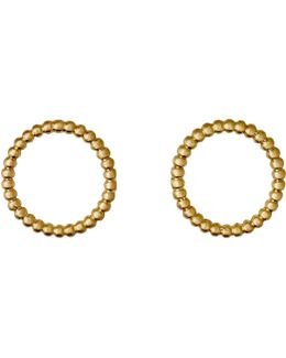 Gold Plated Open Circle Stud Earrings