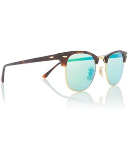 Gold Rb3016 Clubmaster Sunglasses
