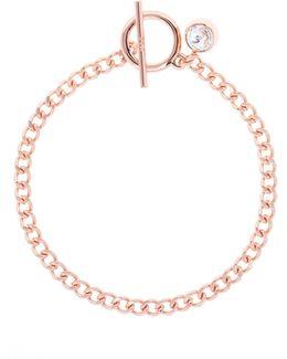 Quantum Rose Gold Crystal T-bar Bracelet