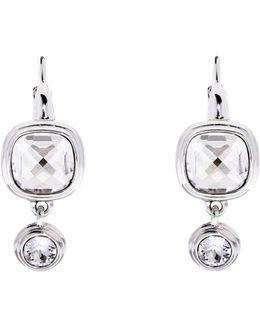 Milano Silver Stone Double Drop Earrings