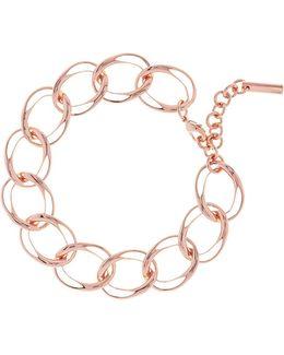 Grosgrain Rose Gold Chain Bracelet