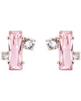 Bria Rose Gold Crystal Baguette Earrings