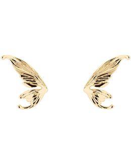 Cobweb Gold Fairy Wing Stud Earrings